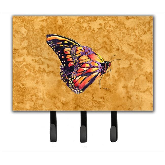Carolines Treasures 8858TH68 6 x 9 In. Butterfly on Gold Leash or Key Holder - image 1 de 1