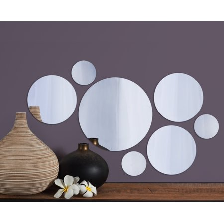 Elements Set Of 7 Round Mirrors 9 Inch 6 And 3