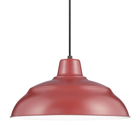 Millennium Lighting RWHC14-SR R Series Cord Hung Pendant Light In Satin Red