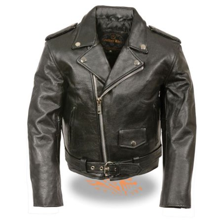 Milwaukee Kids Traditional Style Motorcycle Jacket Black