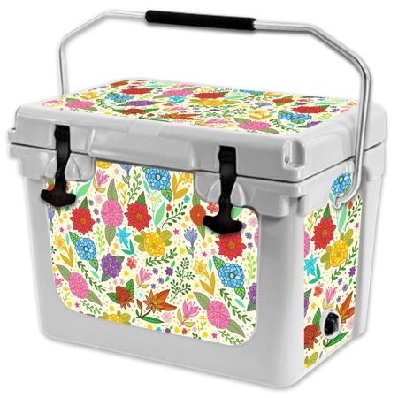 Skin for RTIC 20 Cooler (2017 Model) - Flower Garden| MightySkins Protective, Durable, and Unique Vinyl Decal wrap cover  | Easy To Apply, Remove, and Change Styles | Made in the USA