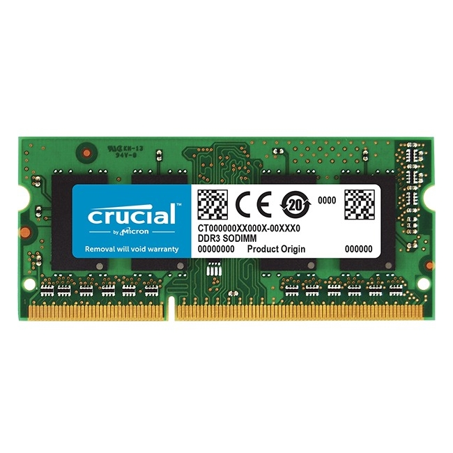 Crucial 16GB (1x16GB) DDR3 1600MHz 1.35V Non-ECC Unbuffered 204pin SoDIMM Module