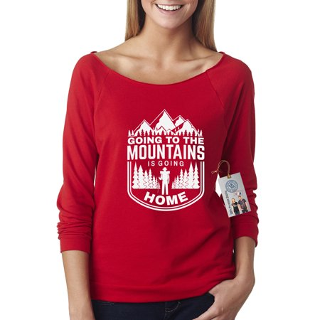 Going To The Mountains is Going Home Off Shoulder French Terry Top