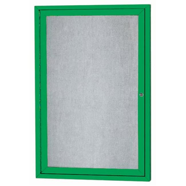 Aarco Products ODCC3624RIG 1-Door Illuminated Outdoor Enclosed Bulletin Board - Green