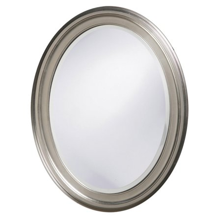 Belham Living Oval Wall Mirror - Brushed Nickel - 25W x 33H in.
