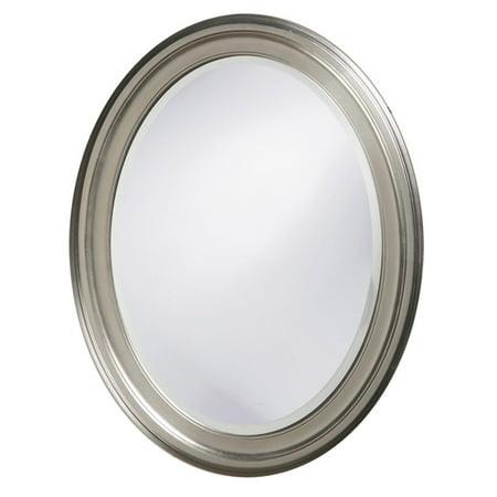 Elizabeth Austin Oval Wall Mirror - Brushed Nickel - 25W x 33H in. ()