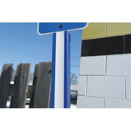 Ideal Shield (IDEAL SHIELD 24IN UCHANNEL CVR BL/WH U Channel Cover,Polyethylene,Blue/White)
