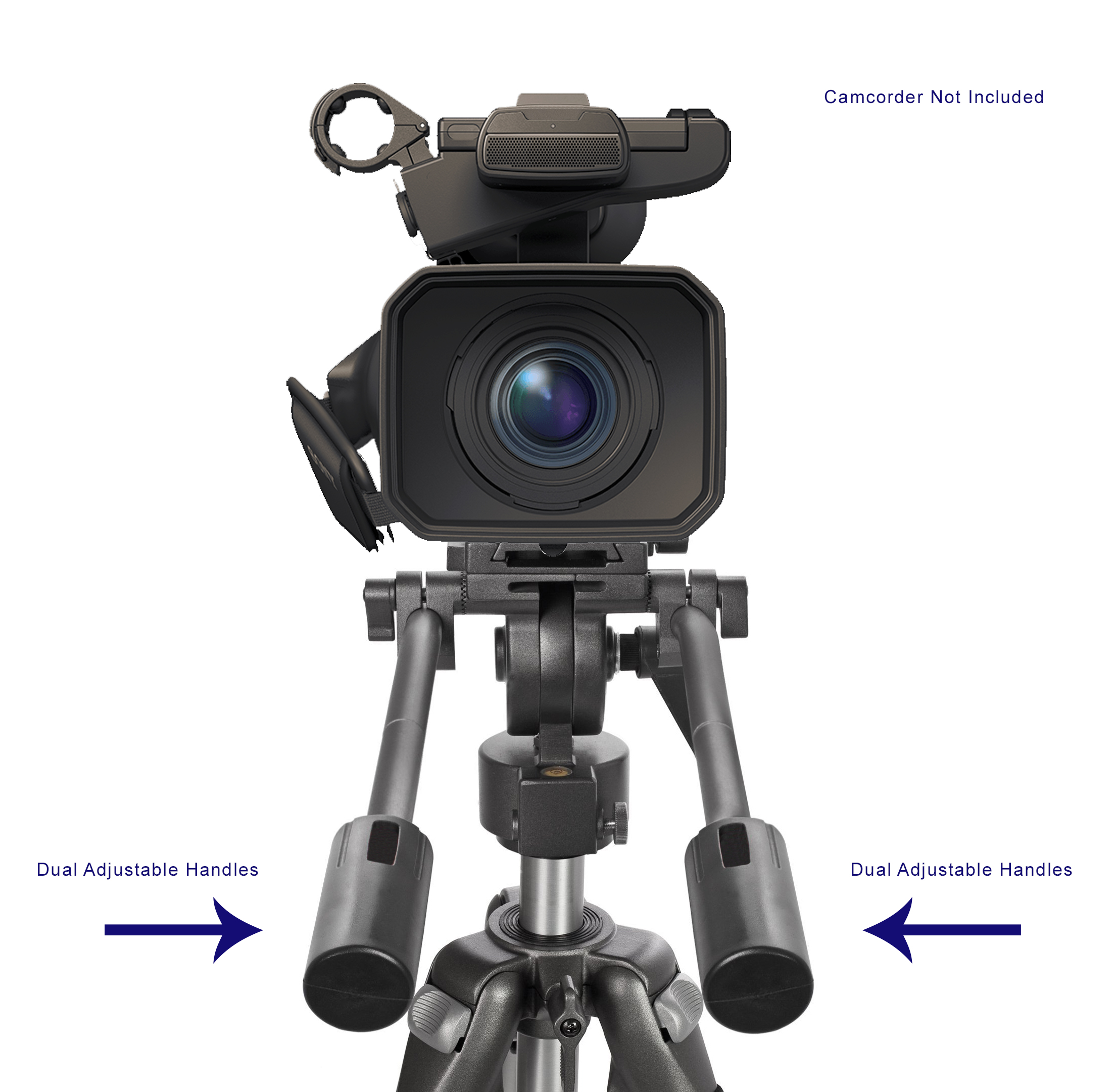 Professional Dual Handle Aluminum 67 Tripod For Panasonic...