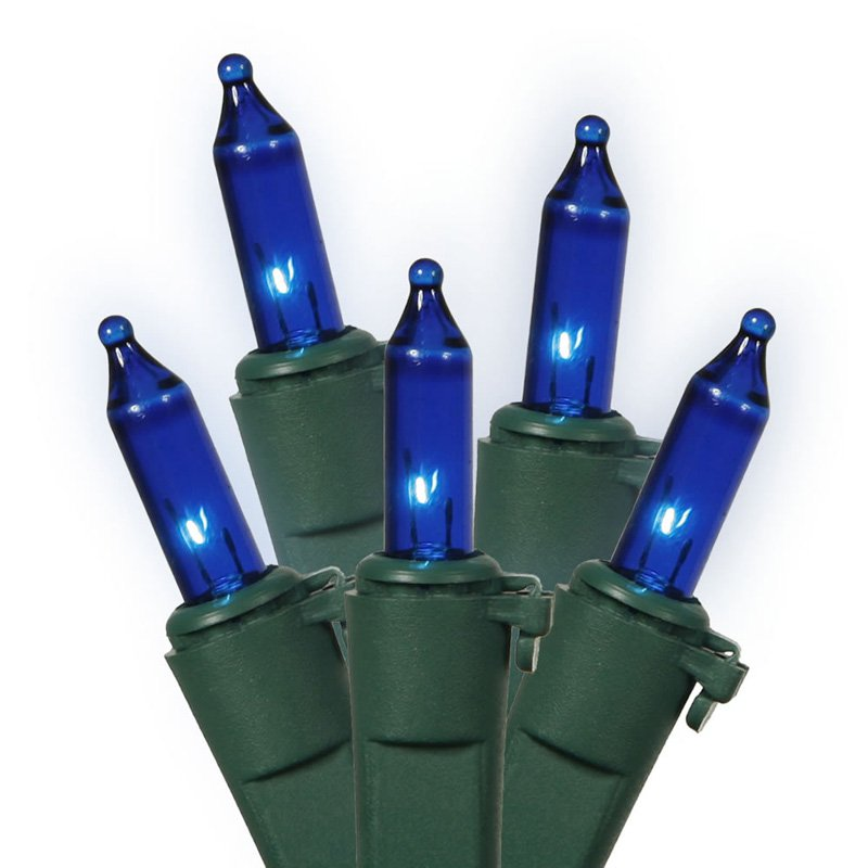 Vickerman Blue Mini String Lights, 100 Count