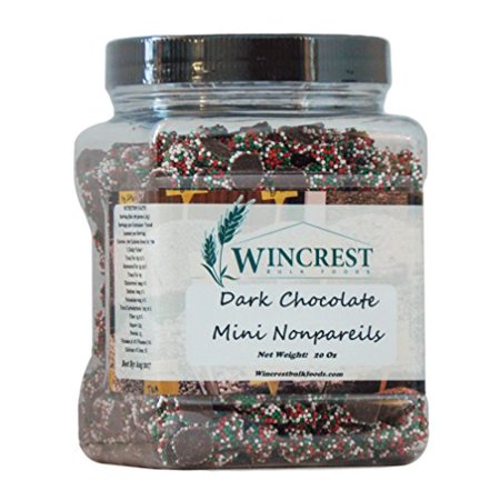 Chocolate Nonpareils - 1.25 Lb (20 Oz) Tub (Mini Christmas Nonpareils)](Christmas Chocolates)