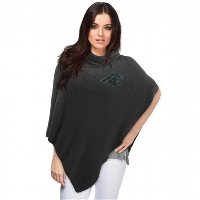 Little Earth Productions 351114-PANT Carolina Panthers Crystal Knit Poncho Black by Little Earth Productions