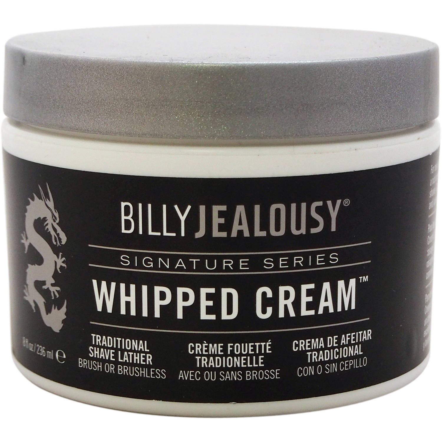 Whipped Cream Traditional Shave Lather by Billy Jealousy for Men, 8 oz