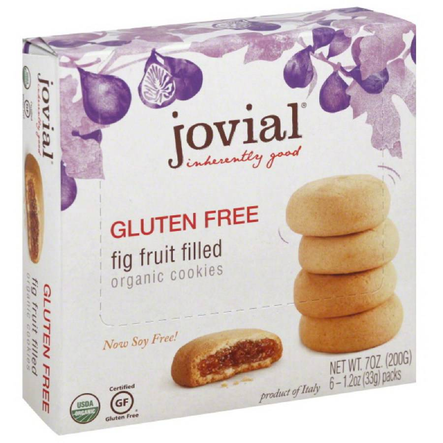 Jovial Fig Fruit Filled Cookies, 7 oz, (Pack of 5)