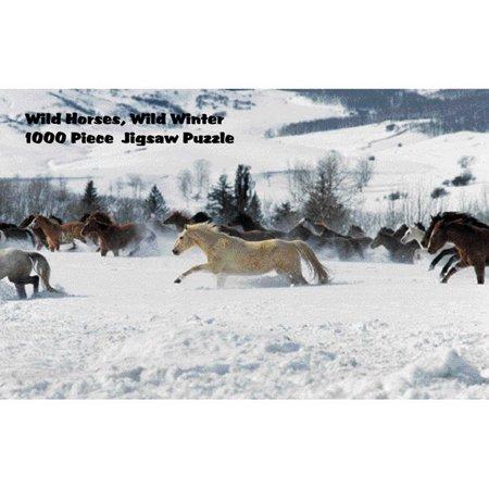 Intrepid International Puzzle - Wild Horses in Winter](Winter Puzzles)