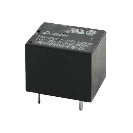 Unique Bargains DC 5V Rating Coil SPDT General Purpose Power Relay Black TRD-5VDC-FB-CL (Multi Purpose Relay)