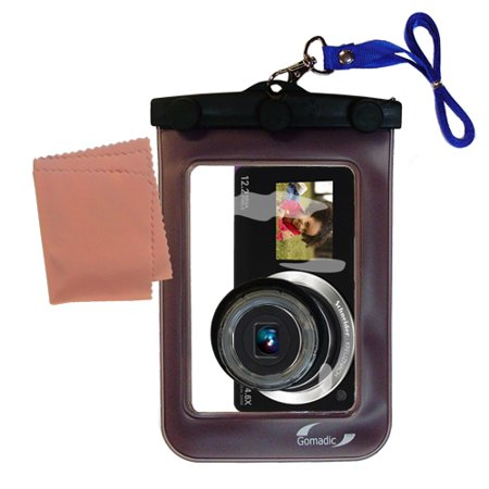 Semi Hard Camera Case - Gomadic Waterproof Camera Protective Bag suitable for the Samsung DualView TL225 - Unique Floating Design Keeps Camera Clean and Dry