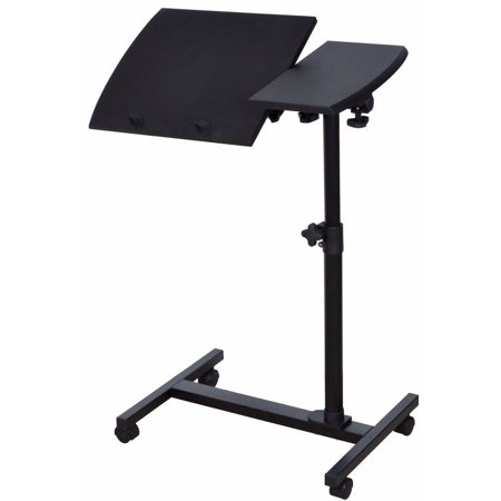 Tms Adjustable Rolling Laptop Stand Notebook Desk Over Sofa Bed Table With Wheels