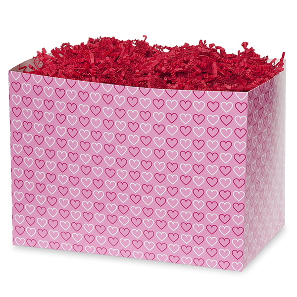 Small Valentine Basket Box 7in