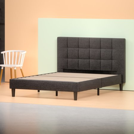 Zinus Lottie Upholstered Square Stitched Platform Bed With