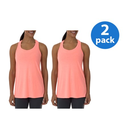 Athletic Works Womens Core Active Racerback Tank 2-Pack Value (Athletic Works Womens Core Active Racerback Tank)