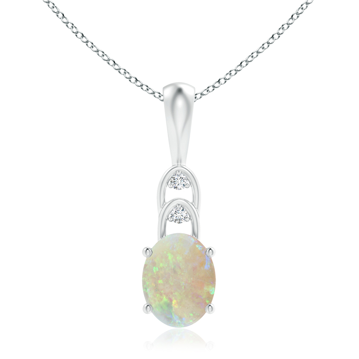 Angara Womens Opal Pendant Platinum - October Birthstone Pendant GIVfag2LUe