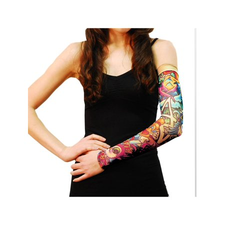 Wild Rose Unisex Single Tattoo Mesh Sleeve, Salvation,