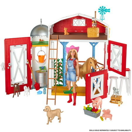 Barbie Sweet Orchard Farm Playset with Barn, 11 Animals, Working Features & 15 Pieces, Doll Sold Separately