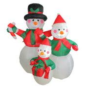 4' Inflatable Snowman Family Lighted Christmas Yard Art Decor