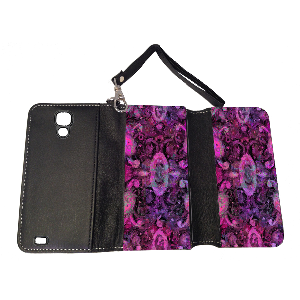 KuzmarK Samsung Galaxy S4 Wallet Handbag Case - Paisley Pretty Painting