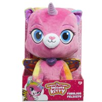 """Rainbow Butterfly Unicorn Kitty - 14"""" Fabulous Felicity Plush"""