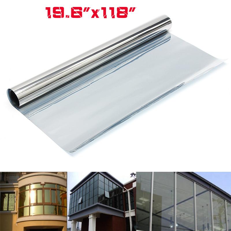 1Pcs 10ft x 1.6ft 15% VLT Solar Reflective One Way Mirror Window Film Insulation Sticker