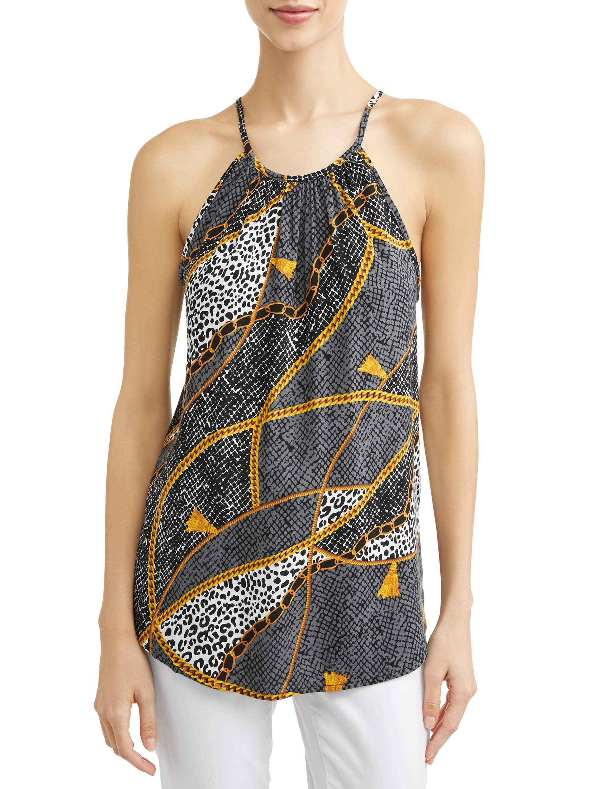 Women's Printed Sleeveless Blouse
