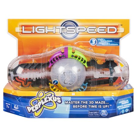 Perplexus Light Speed Game, 3D Brain Teaser Maze with Lights and Sounds for Kids Aged 7 and (Pyramid Brain Teaser)