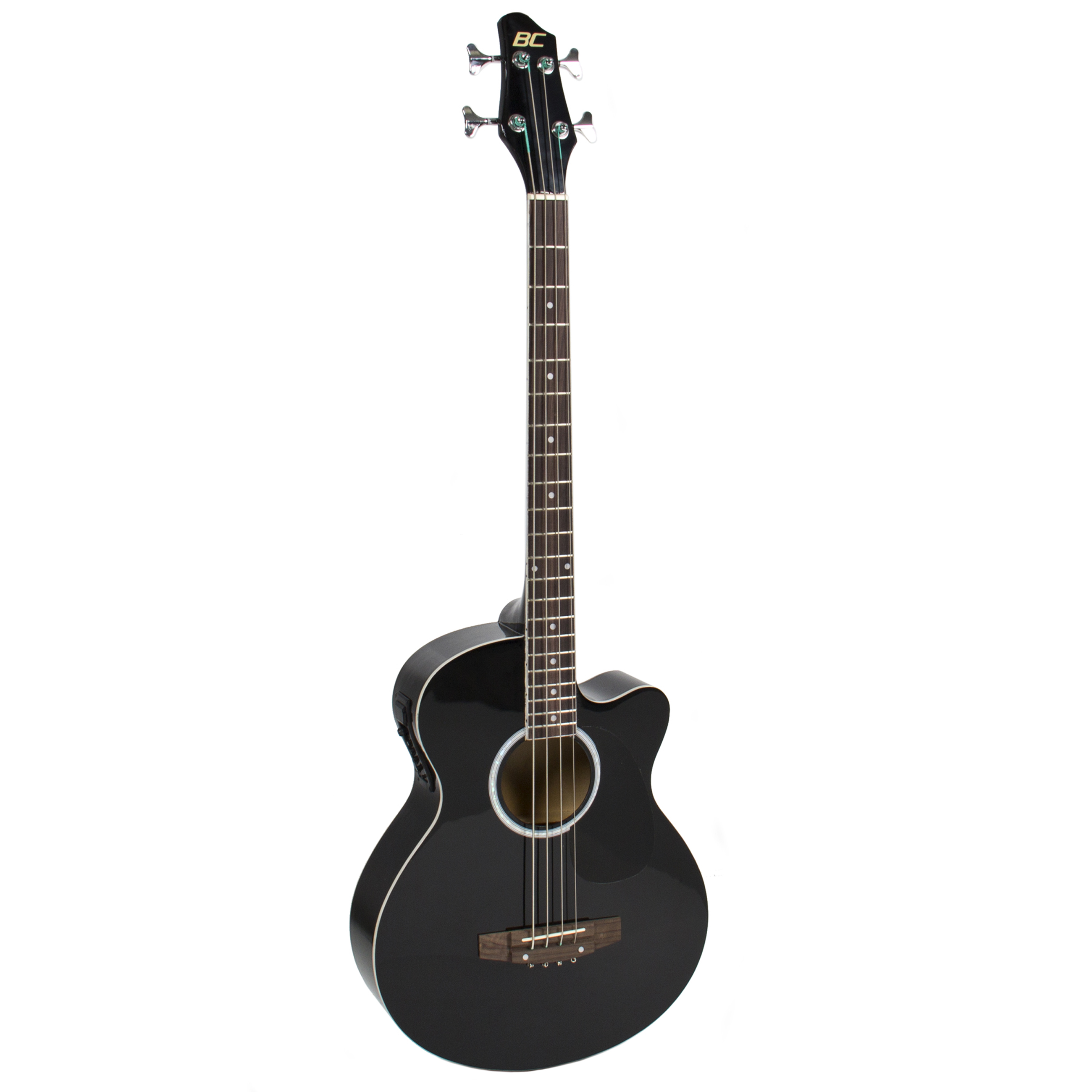 New Black Electric Acoustic Bass Guitar With Equalizer Solid Construction by