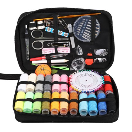 Sewing KIT, 126Pcs Set XL Sewing Supplies for DIY, Beginners, Sewing Set with Scissors, Thimble, Thread, Needles, Tape Measure, Carrying Case and -