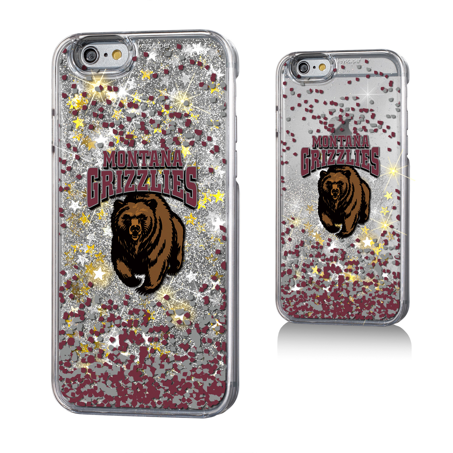 Montana Grizzlies Gold Glitter Case for the iPhone 6 / 6S / 7 / 8 NCAA