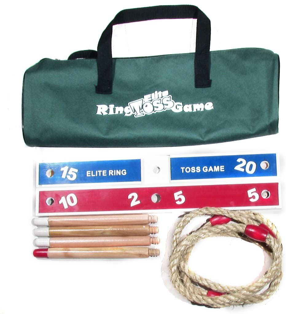 Easy Backyard Games to Assemble Elite Outdoor Games For Kids Ring Toss Yard Games for Adults and Family Fun Kids Games or Outdoor Toys for Kids With Compact Carry Bag for Easy Storage