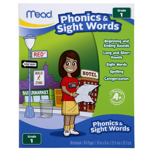 Mead Early Learning Phonics & Sight Words Workbook