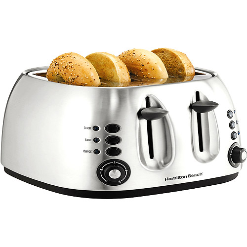 Hamilton Beach Brushed Stainless 4-Slice Toaster