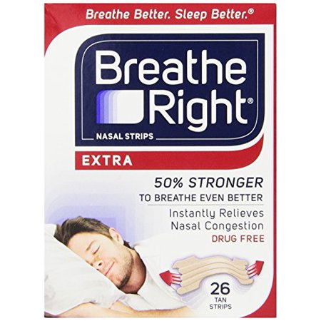 6 Pack   Breathe Right Nasal Strips Extra 26 Each