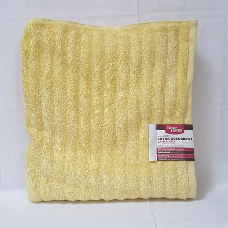 Better homes gardens bhg texture bath towel lemon ice for Better homes and gardens bath towels