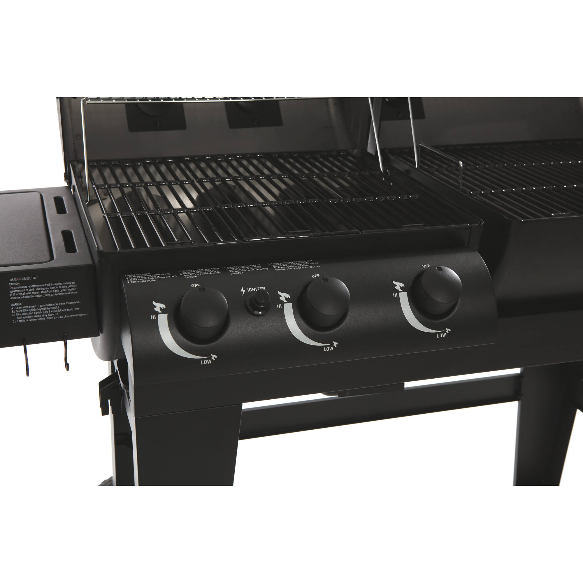 Char Griller Dual Function Gas Charcoal Grill Walmart