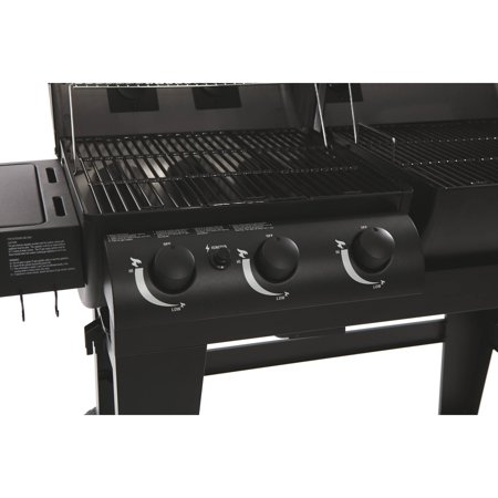 E5072 Char Griller Dual Function Gas Charcoal Grill Black