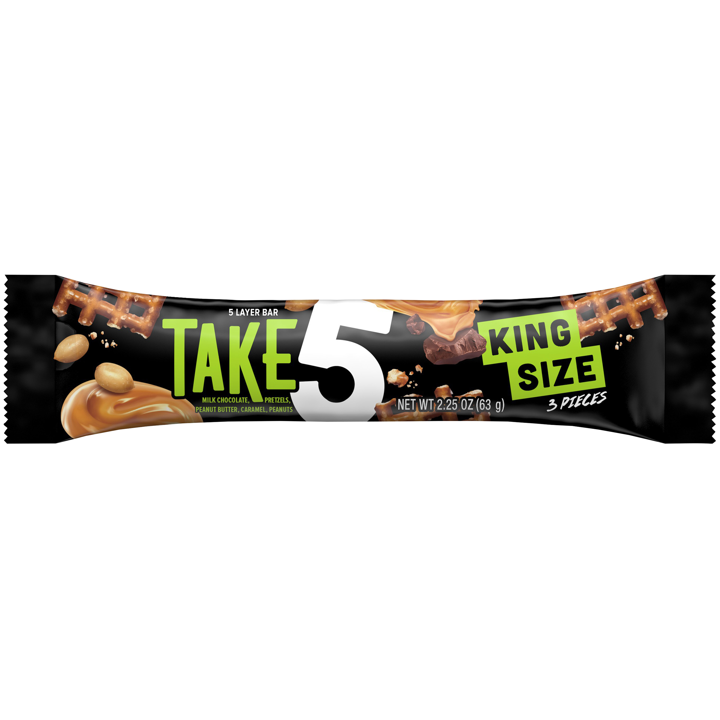 TAKE 5 King Size Candy Bar, 2.25 oz