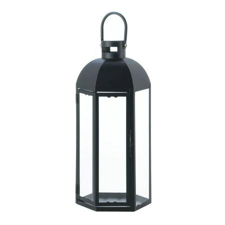 Black Lantern Candle Holder, Large Rustic Outdoor Metal Lanterns For Candles ()