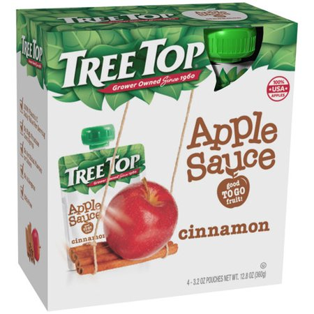 (3 Pack) Tree Topî Cinnamon Apple Sauce 4-3.2 oz. Pouches ()