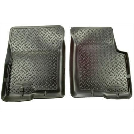 Husky Liner 34061 Classic Style Series Thermoplastic Elastomer Black Front Floor Liners - image 2 de 2