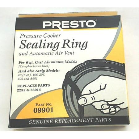 09901, Pressure Cooker Sealing Ring Gasket For 6 Qt Fits Presto 106 (Pressure Cooker Gasket)