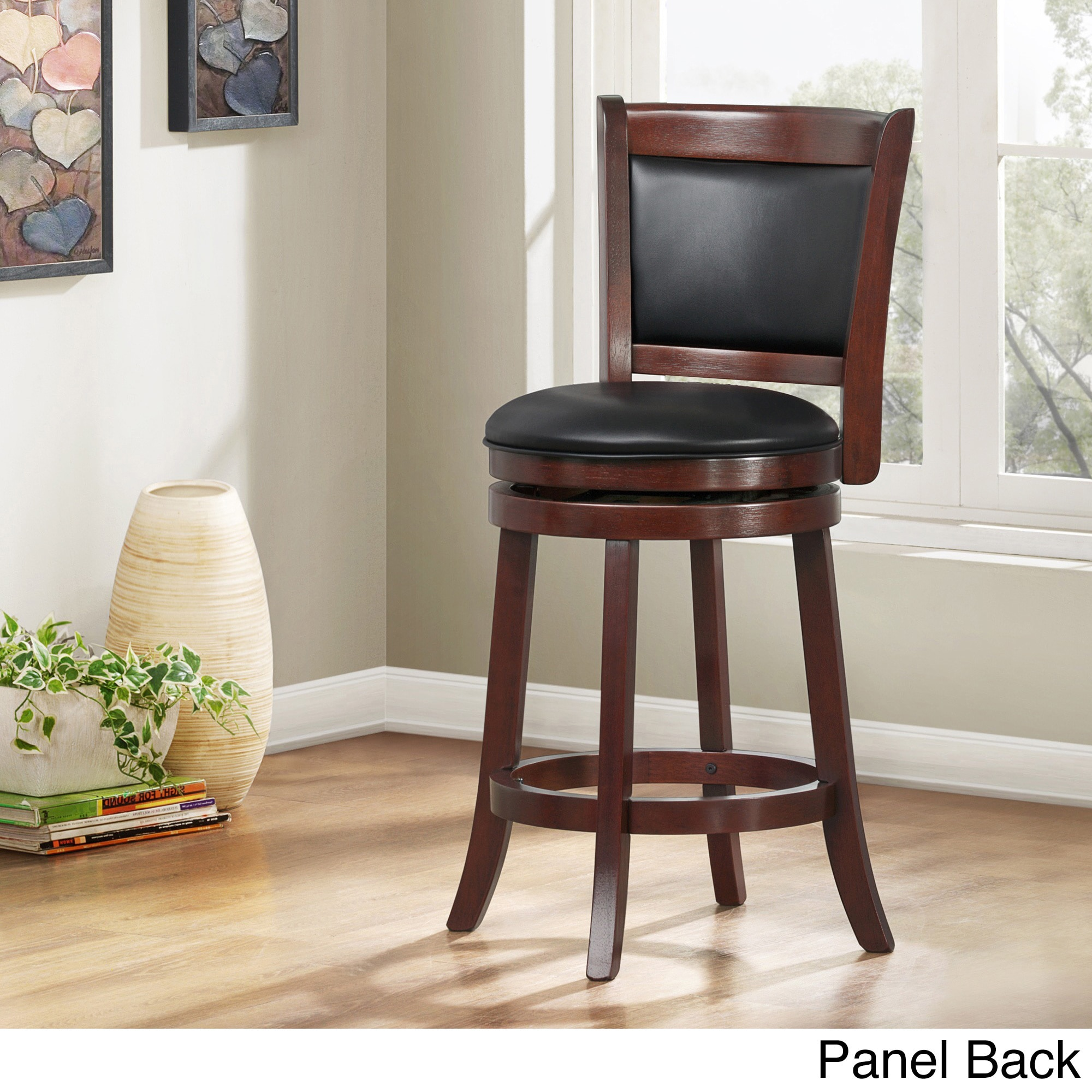 Tribecca Home Verona Cherry Swivel 24 Inch Counter Height Stool    Walmart.com