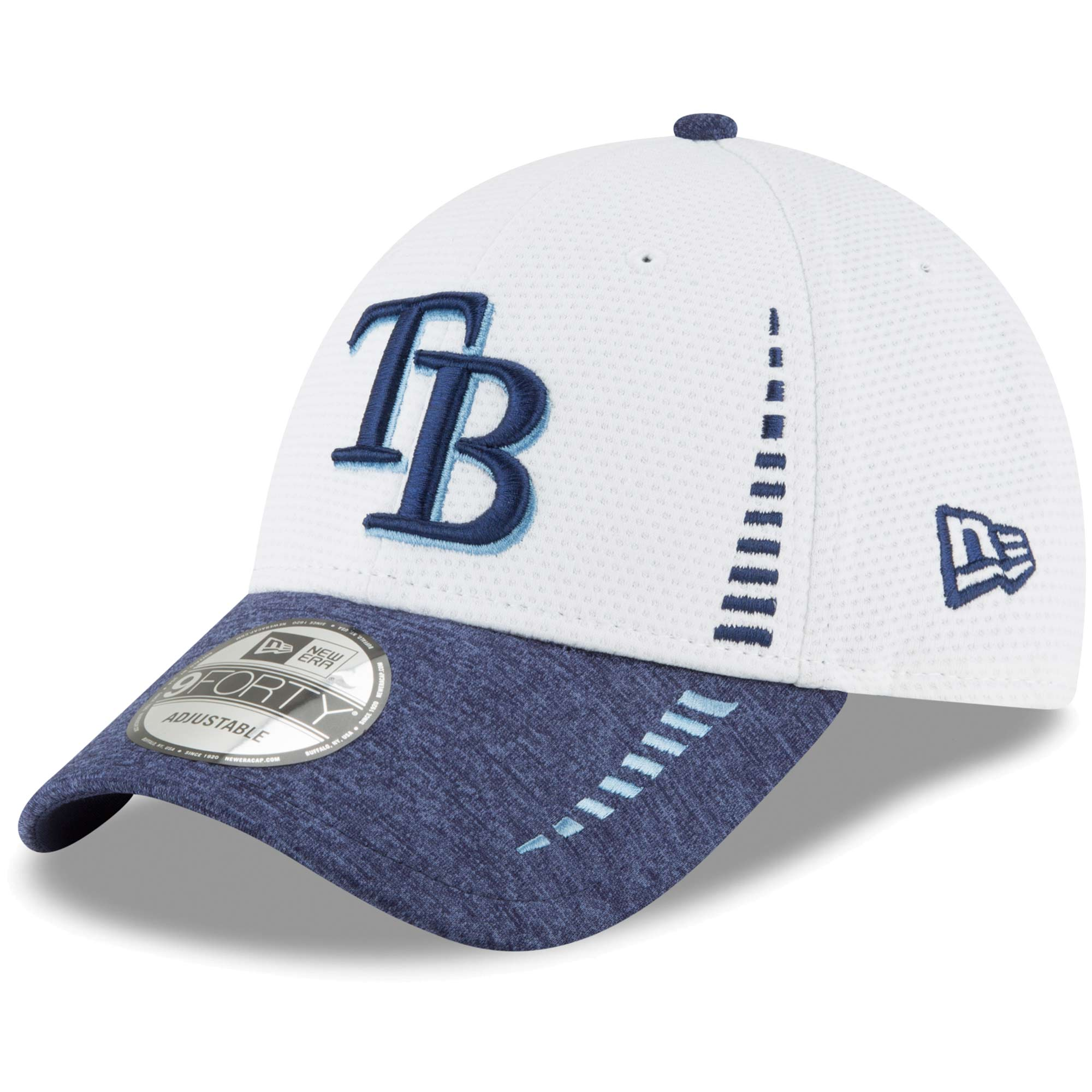 official photos 4a15b d199d ... reduced tampa bay rays new era speed tech 9forty adjustable hat white  osfa 07652 030dc